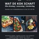 Flyer wat de kok schaft